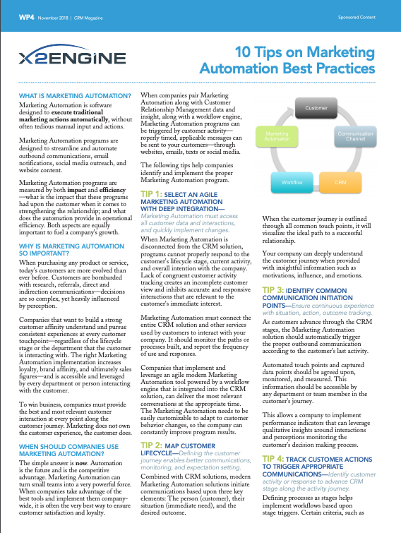 10 Tips on Marketing Automation Best Practices -