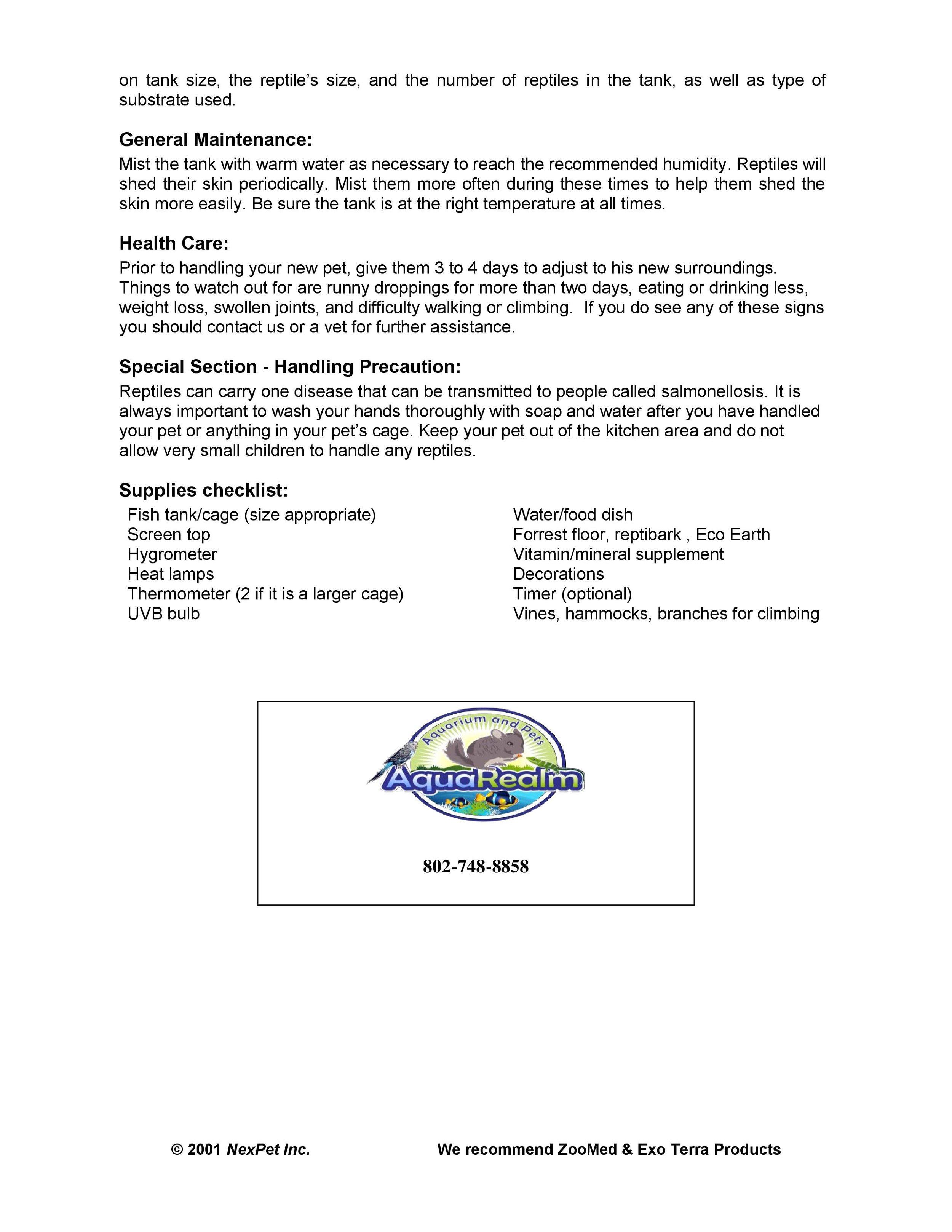 Iguana Care Sheet pg2