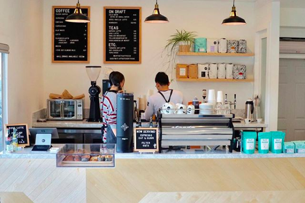 COME HERE FOR THE… - friendly and non-pretentious staff, bombolinis, variety of roasters and take-home beans, relaxed vibe, clean and minimalist interiors.