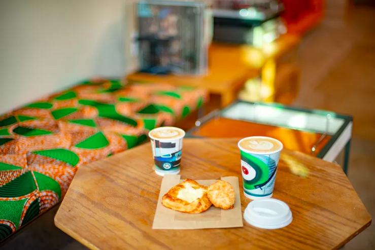 come here for the… - 'kick back and relax' vibe, Coffee Manufactory coffee and espresso, free WiFi, attention to food.
