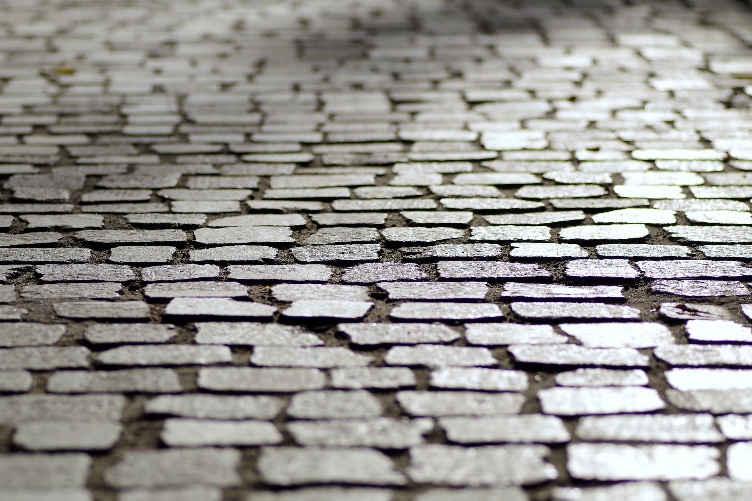 Green, porous, cool sidewalk pavers