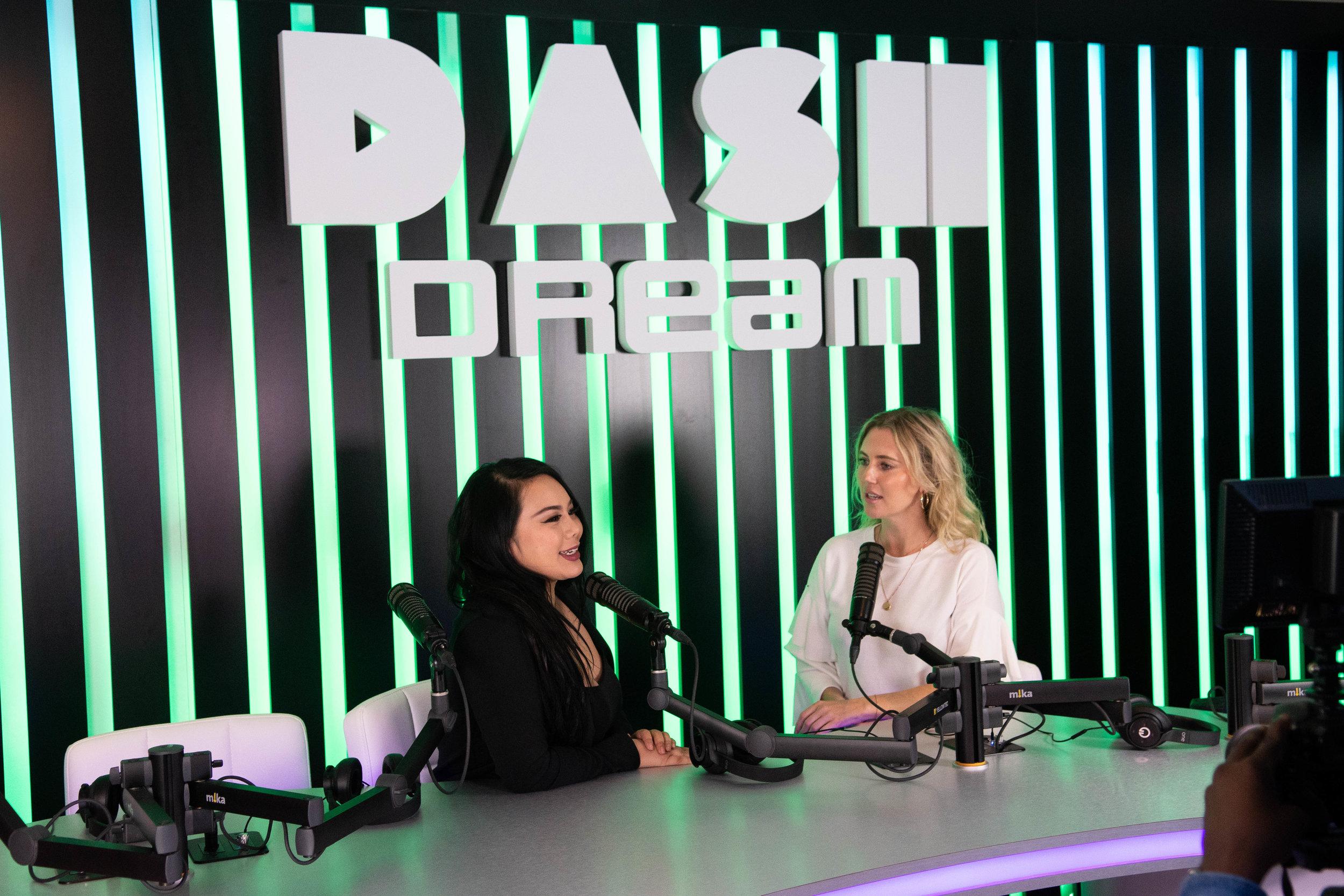 Tonya Tran in the Dash Radio studio with Host, Georgii Speakman