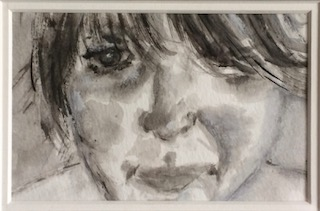 - This is a self portrait in ink, appropriate I think, as I am an artist.My name is olga everAeRT, and this is a little bit about me...