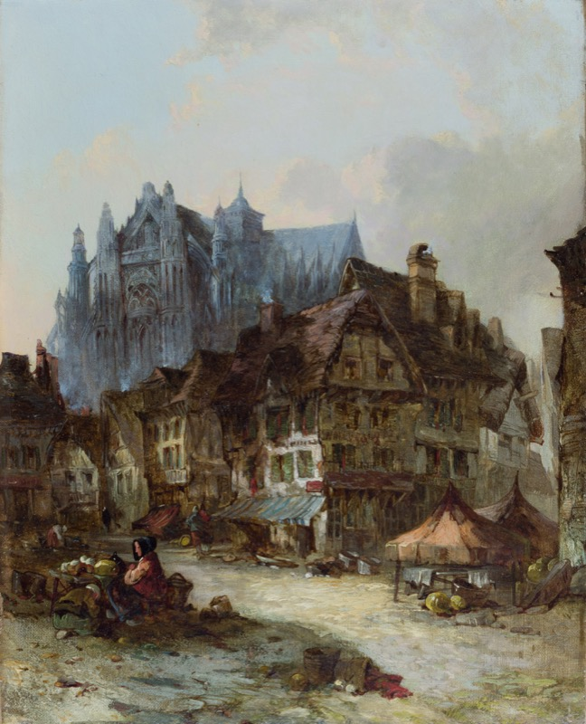 HR CAMBRIDGE FINE ART Alfred Montague A Dutch Street.JPG