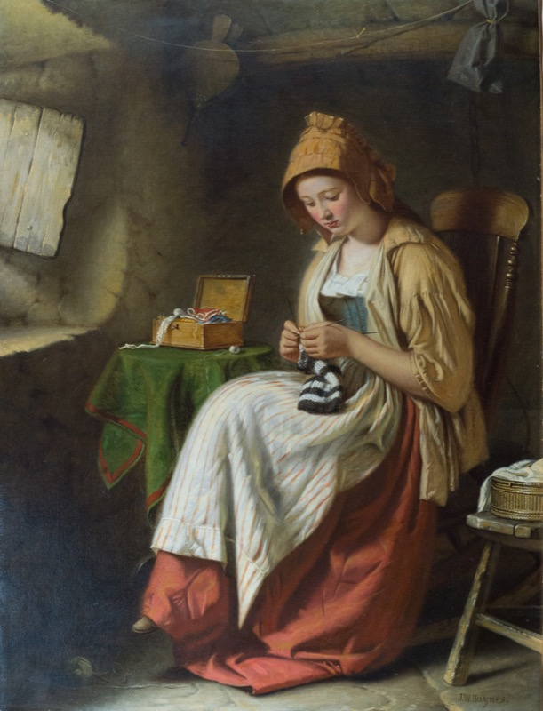 HR CAMBRIDGE FINE ART John William Haynes, Knitting.JPG