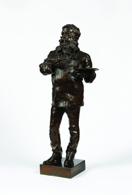 HR GARRET& HURST SCULPTURE Bronze Vincenzo Gemito 1852-1929, Meissonier.JPG