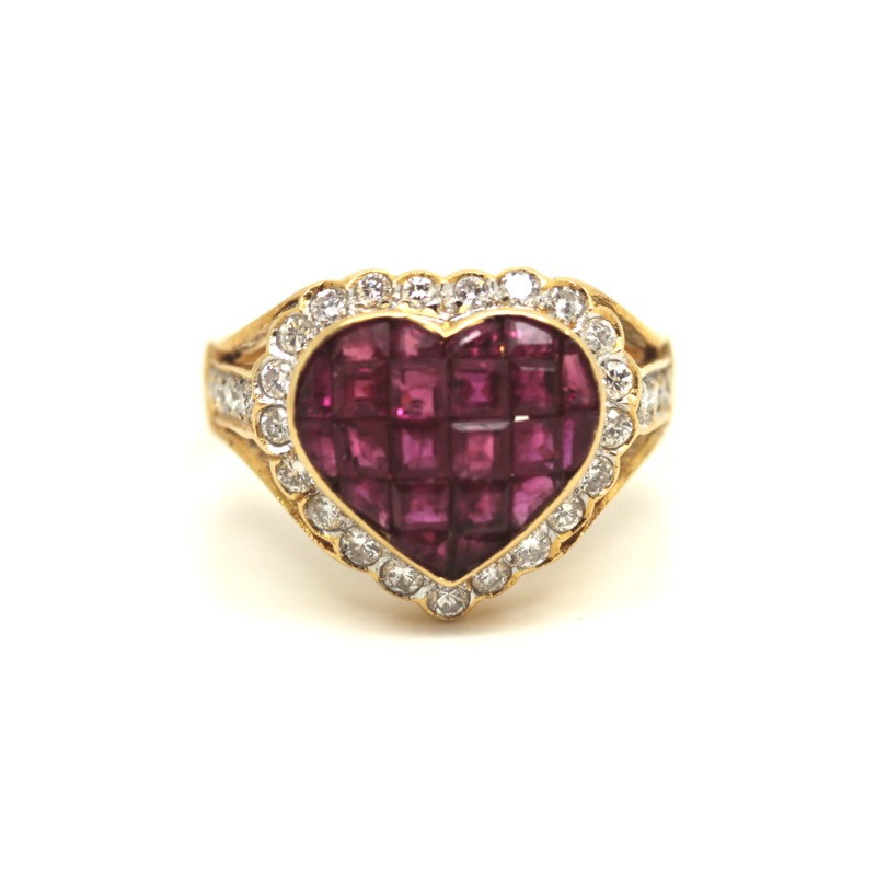 HR GREENSTEIN ANTIQUES ruby & diamond heart ring.JPG