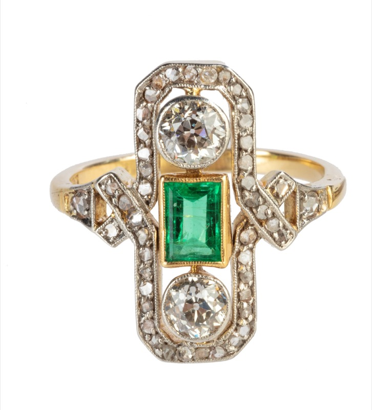 HR T ROBERT diamond & emerald ring.jpg