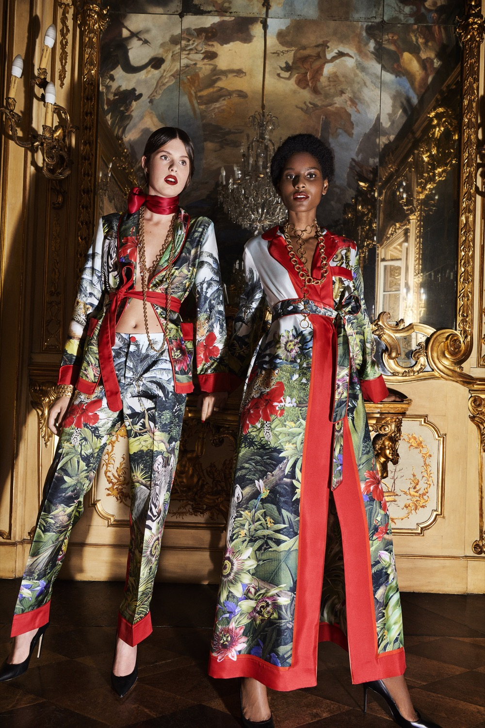 LEFT:    F.R.S For Restless Sleepers Armonia signature pajama jacket in silk.  £858,   F.R.S For Restless Sleepers Etere signature pajama pant in silk . £526    RIGHT:    F.R.S For Restless Sleepers Roda signature long gown in silk.  £1.147