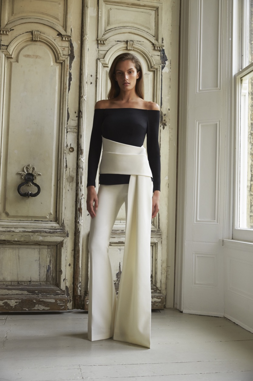 Colette Black and Ivory Top £850   Halluana Ivory trousers £450