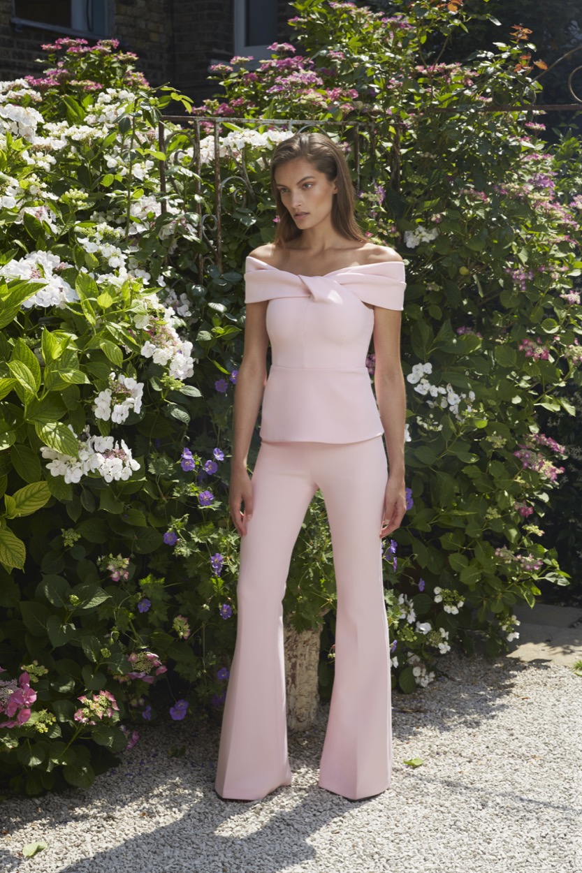 Mabel Cherry Blossom Top £575   Halluana Cherry Blossom Trousers £450