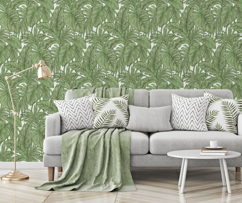 I Want Wallpaper Erismann Botanical Leaf Jungle Wallpaper - Green.jpg