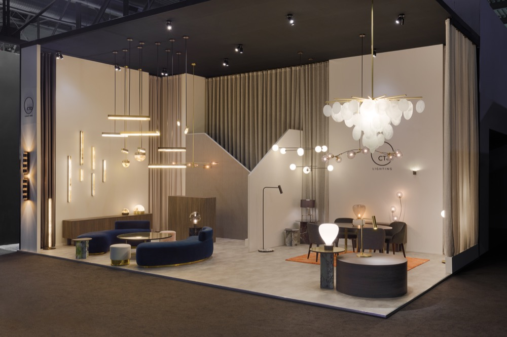CTO Lighting stand at Salone del Mobile
