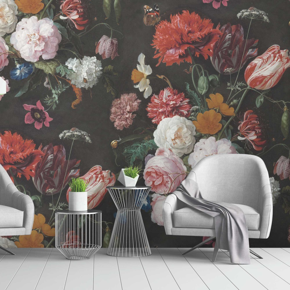 Twilight Garden Wallpaper, proudly made in Lancashire by Woodchip and Magnolia,    £195,  www.woodchipandmagnolia.co.uk