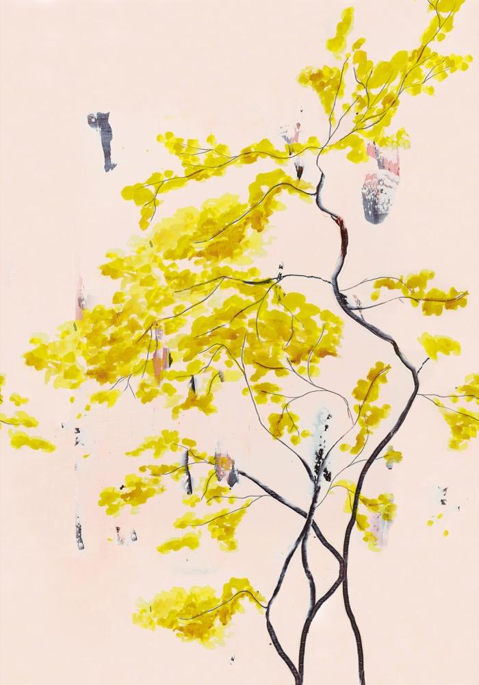 Chinese Tree Mural Wallpaper    £395,  www.annajacobsart.com
