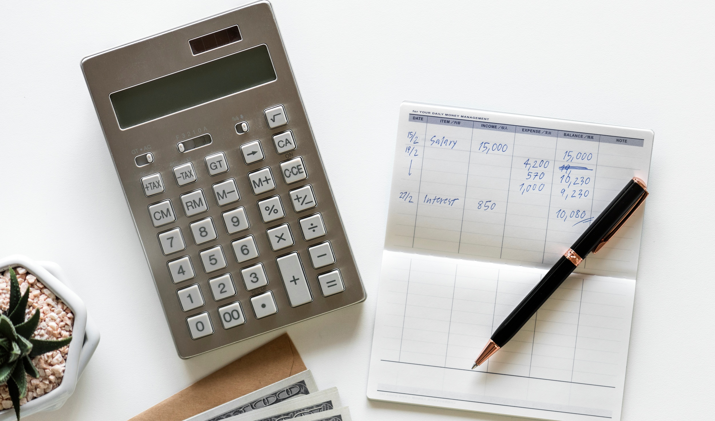 While handheld calculators and registers may be getting dated, they still work like a charm when setting up your budget and tracking expenses.