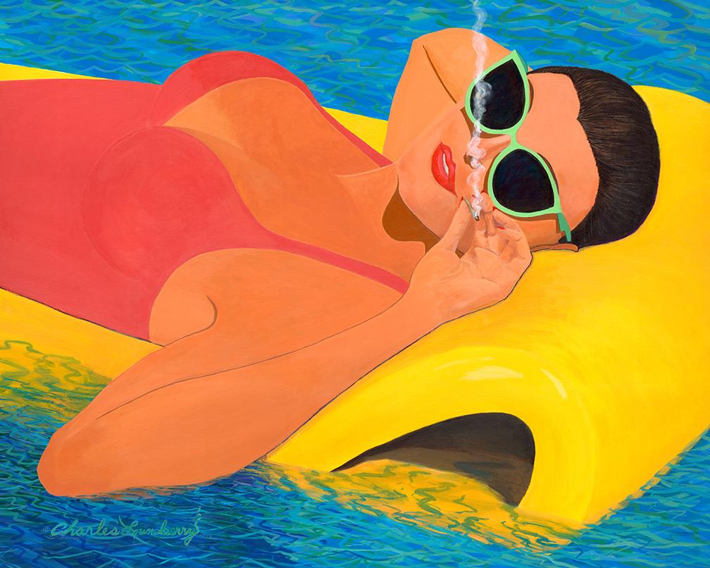 "Pool Party (2019) 48 x 60"" acrylic on canvas"