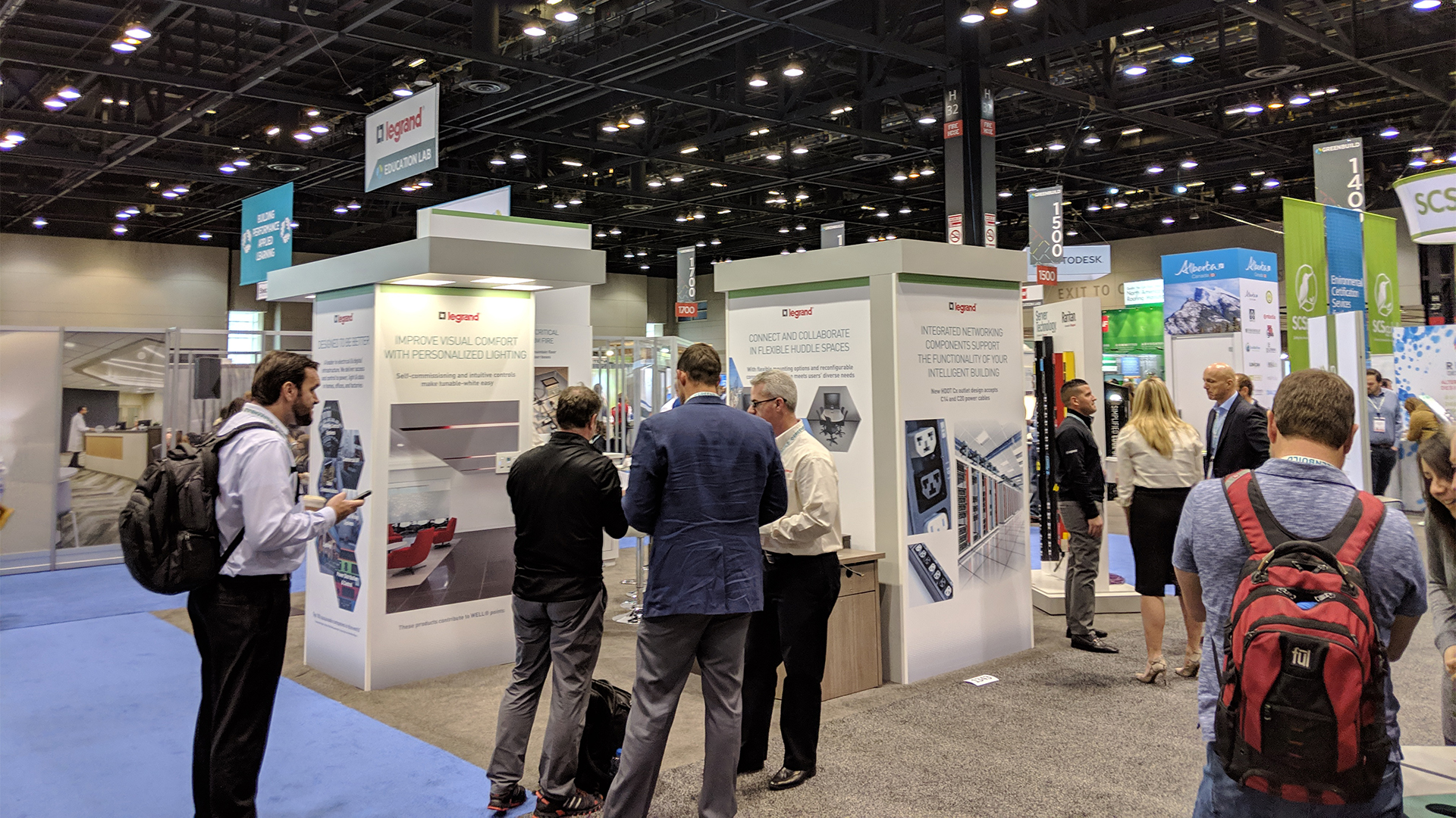 Legrand Greenbuild Tradeshow 2018 - Booth with Visitors