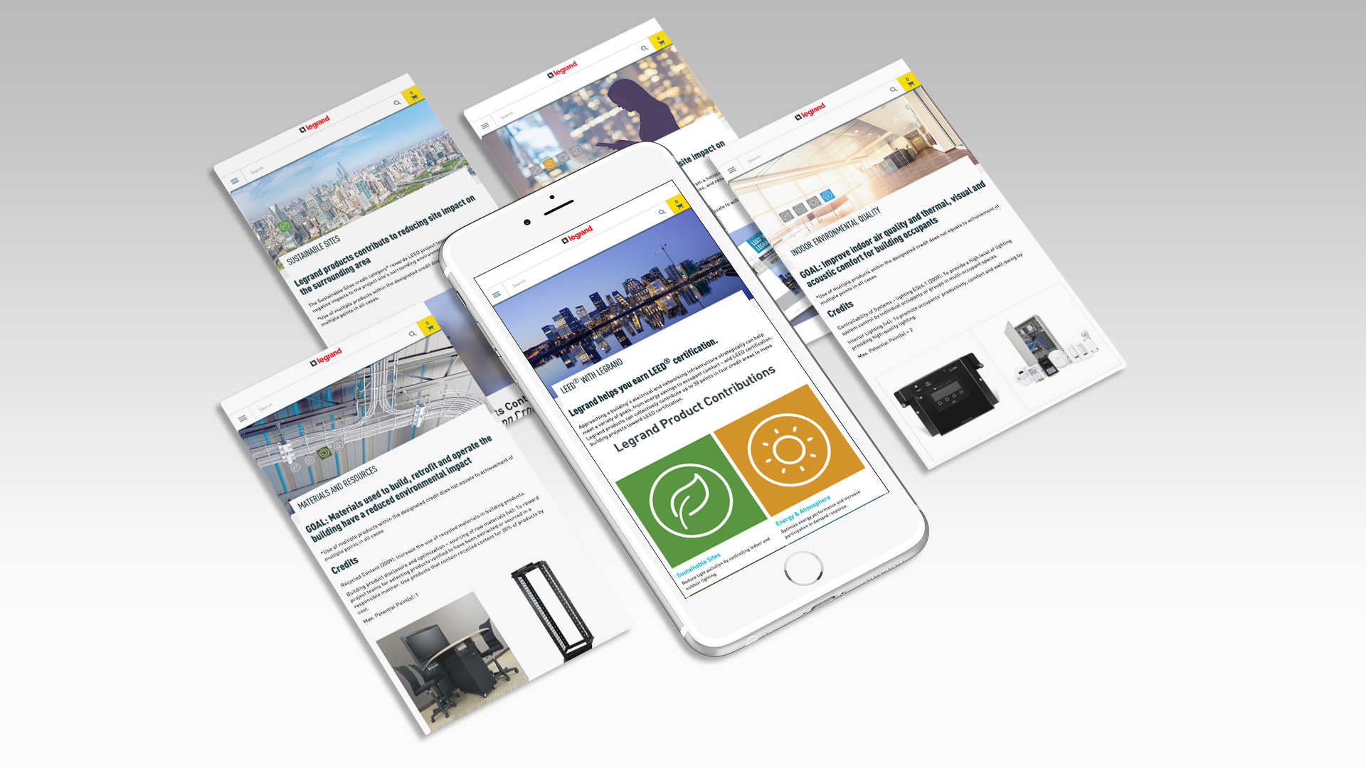LEED with Legrand:  Splash of Mobile Screens