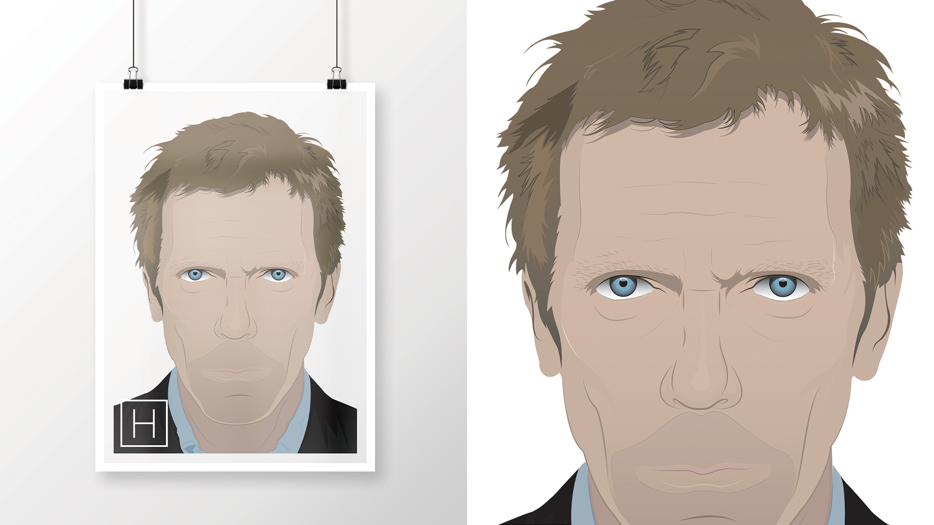 Hugh Laurie as Gregory House, M.D.   As seen in House M.D.