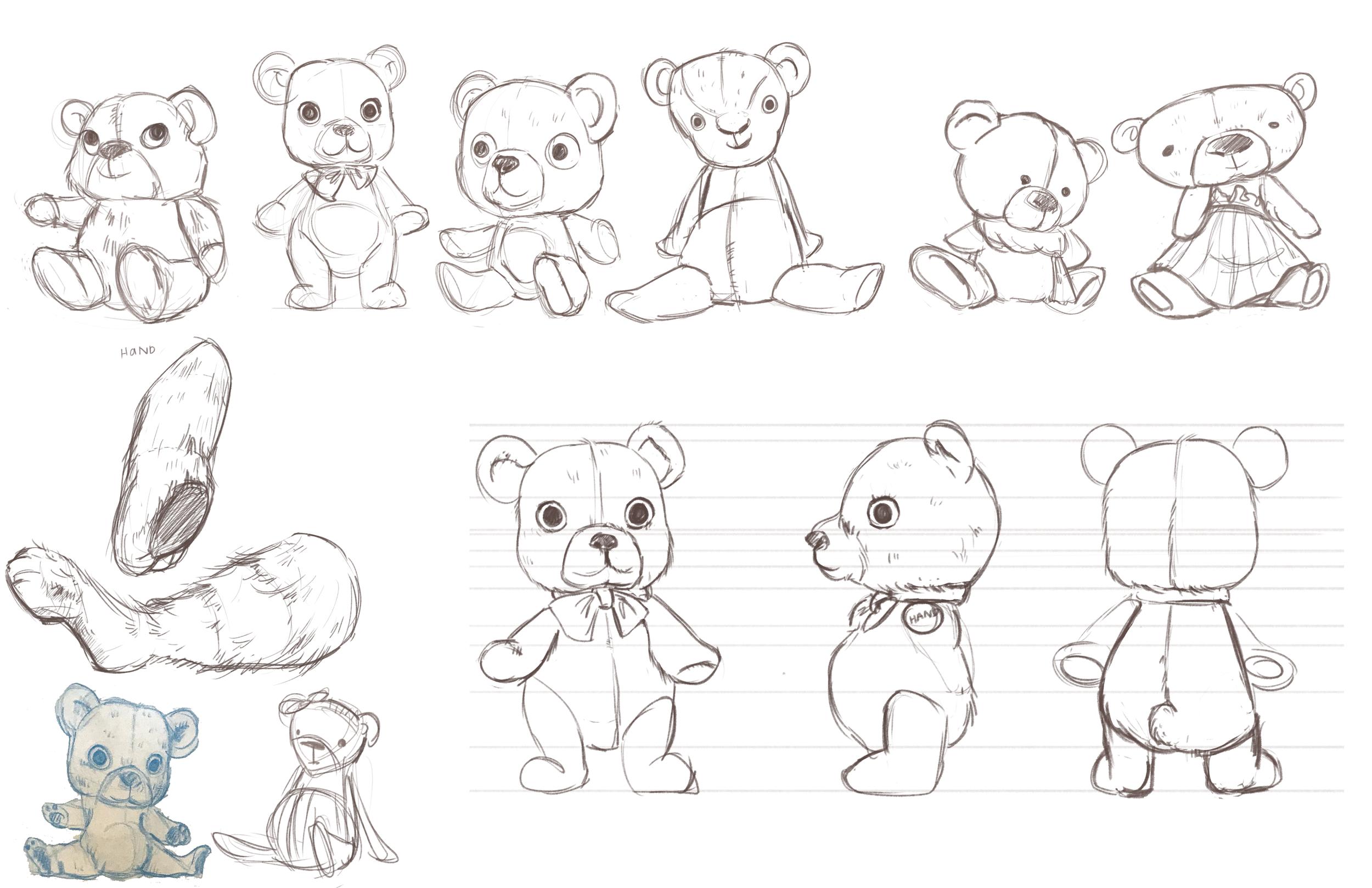 Doll Bear Rough Concept