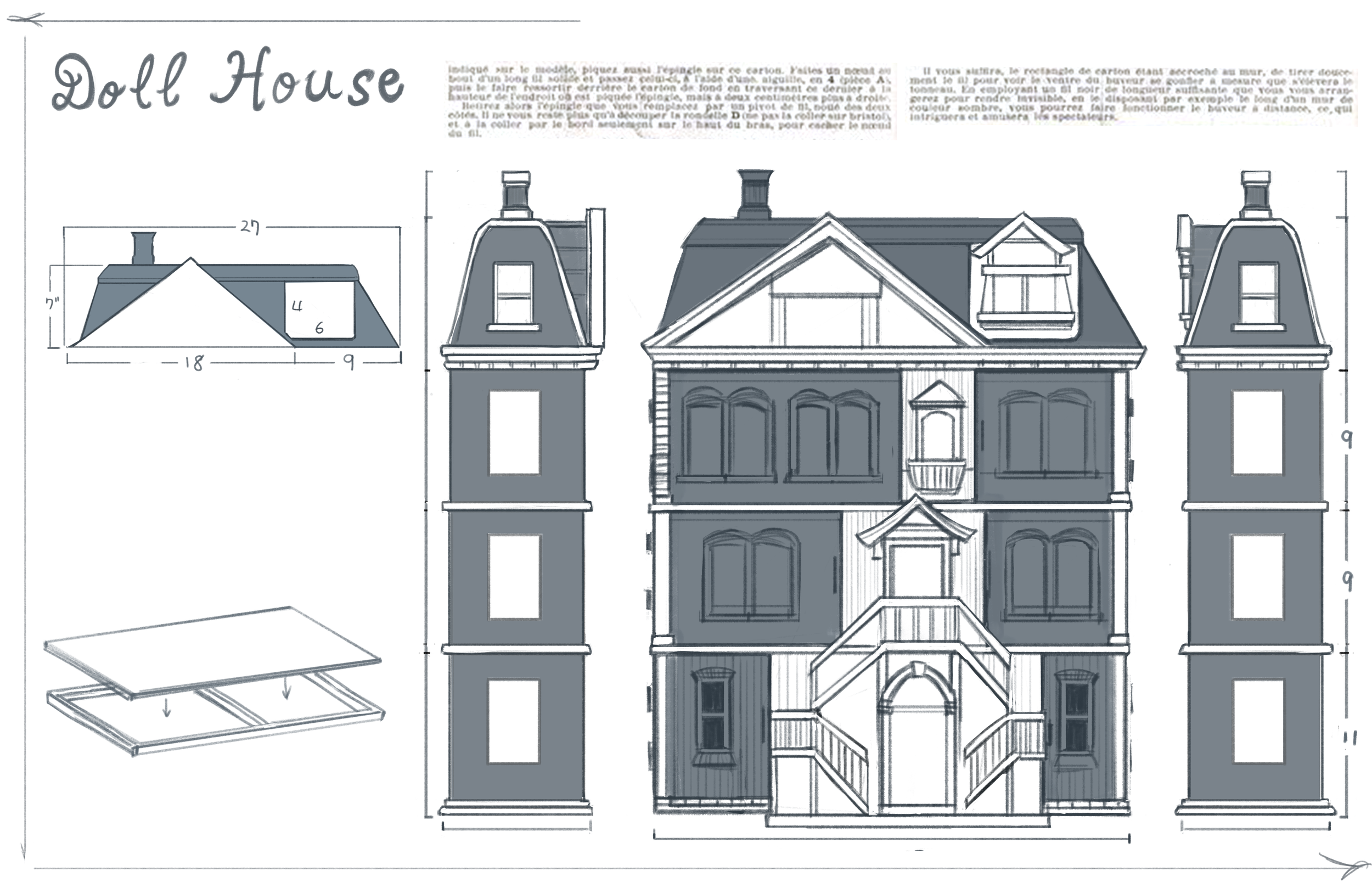 Dollhouse blueprint