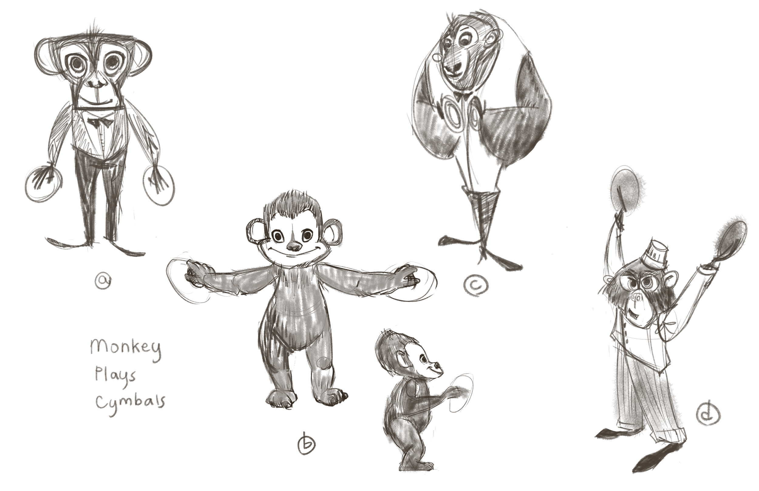 Monkey Plays Cymbals, Rough Concept