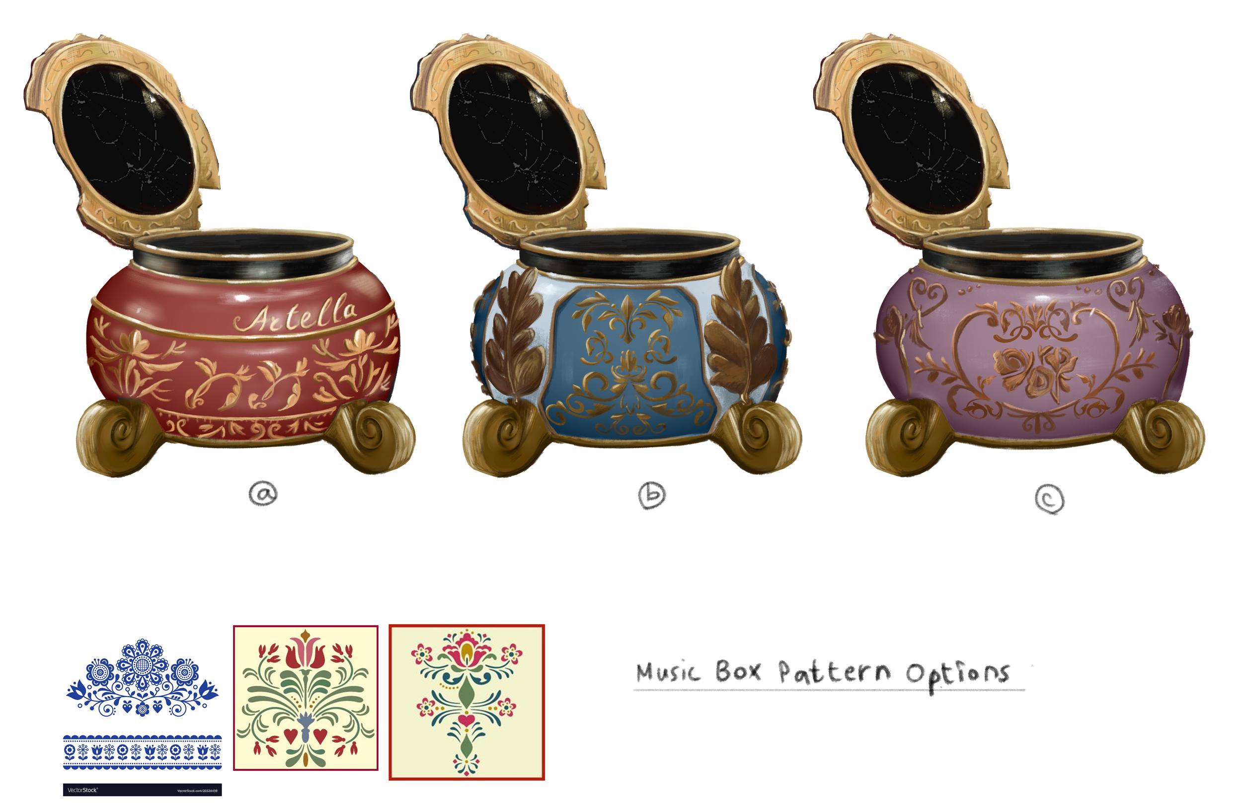 Music Box, Pattern Design Rough Concept