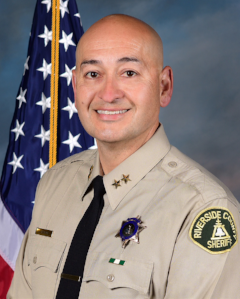 Assistant Sheriff Jerry Gutierrez has been a member of the Riverside County Sheriff 's Department since 1990. He has nearly 28 years of experience in Riverside County Jail Operations. He began his career as a Correctional Deputy and worked a variety of assignments while assigned to the Robert Presley Detention Center, and later, the Ben Clark Training Center.  For a longer bio click  here