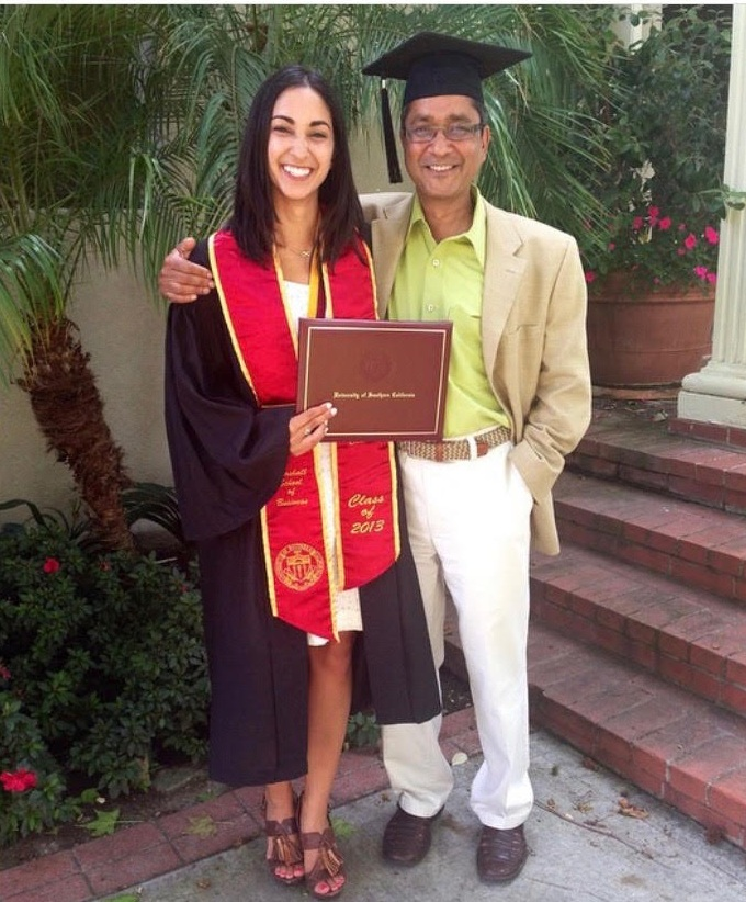 Angeli | San Francisco, CA    What is your dad's name?  Anant   What do you miss (or not miss) about your dad?  I miss how playful my dad was. He was a business executive who ran multiple companies, but he always found time to come up with a ridiculous new nickname for his kids or send us meticulously narrated stories of our family dog chasing a lizard in the yard. I miss his love of learning. While other kids in our neighborhood were learning to play soccer or baseball, he deconstructed a radio for my sister and I and taught us how to put the entire thing back together again. I miss how he annoyed my mom and gave us something to talk about when I call her every week.  I don't miss his alcoholism. I don't miss how it transformed him into this shell of a human, someone I didn't recognize and who literally shrank as he lost weight. I don't miss how his disease stole him from us far too soon. But over the last year, I've realized I'm also grateful that he was with us for as long as he was.   What do you wish people would ask you about your dad?  I wish they would ask about him. Ask about my memories of him, ask what he was like, ask how I continue to stay connected with him after his passing, ask about the little things he did to annoy me, ask about the incredibly complicated feelings of relief and guilt I had when he died. I wish they would ask me about my experience of being in the hospital with him because I'm still not over it, and it's been a year. All I want to do is talk about him, and it feels like sometimes people are nervous to ask.