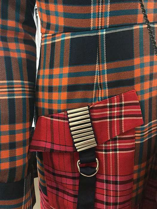 A massively successful mixing of patterns and stripes, or a co-ordinated clash of brightly coloured tartans that brings personality and a quirkiness to the mix.