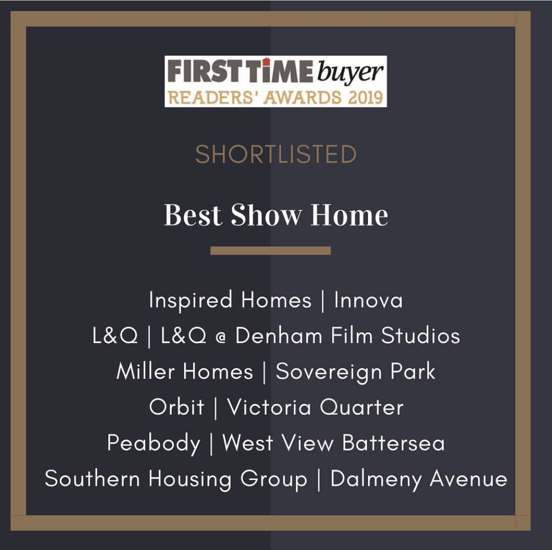 First Time Buyer Awards Hat Trick. - 5.2.19