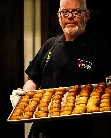 The man behind the pretzels 🥨 Did you know that our pretzel bites are made fresh, in our kitchen, daily? Bringing you the softest, most delicious pretzel bites!