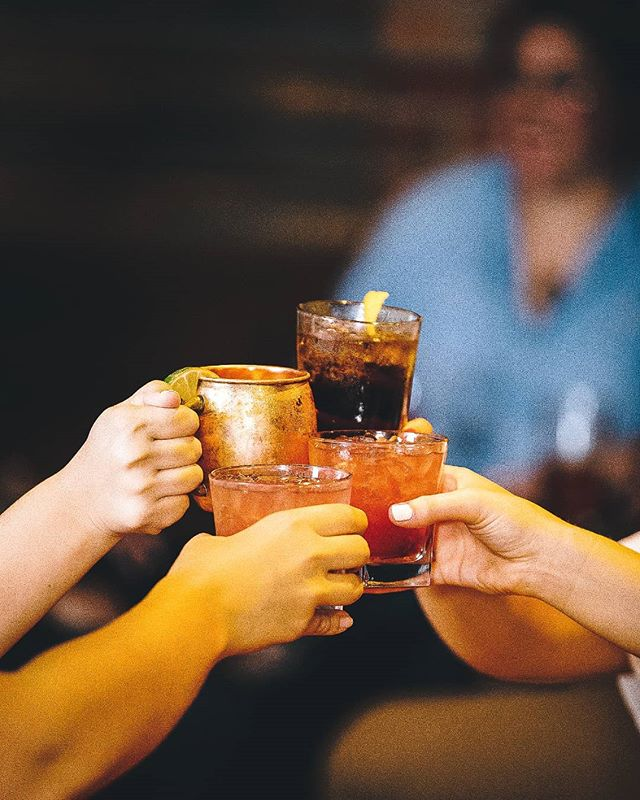 Cheers to making it to Thursday! Stop by the basement to grab some cocktails and escape the heat.