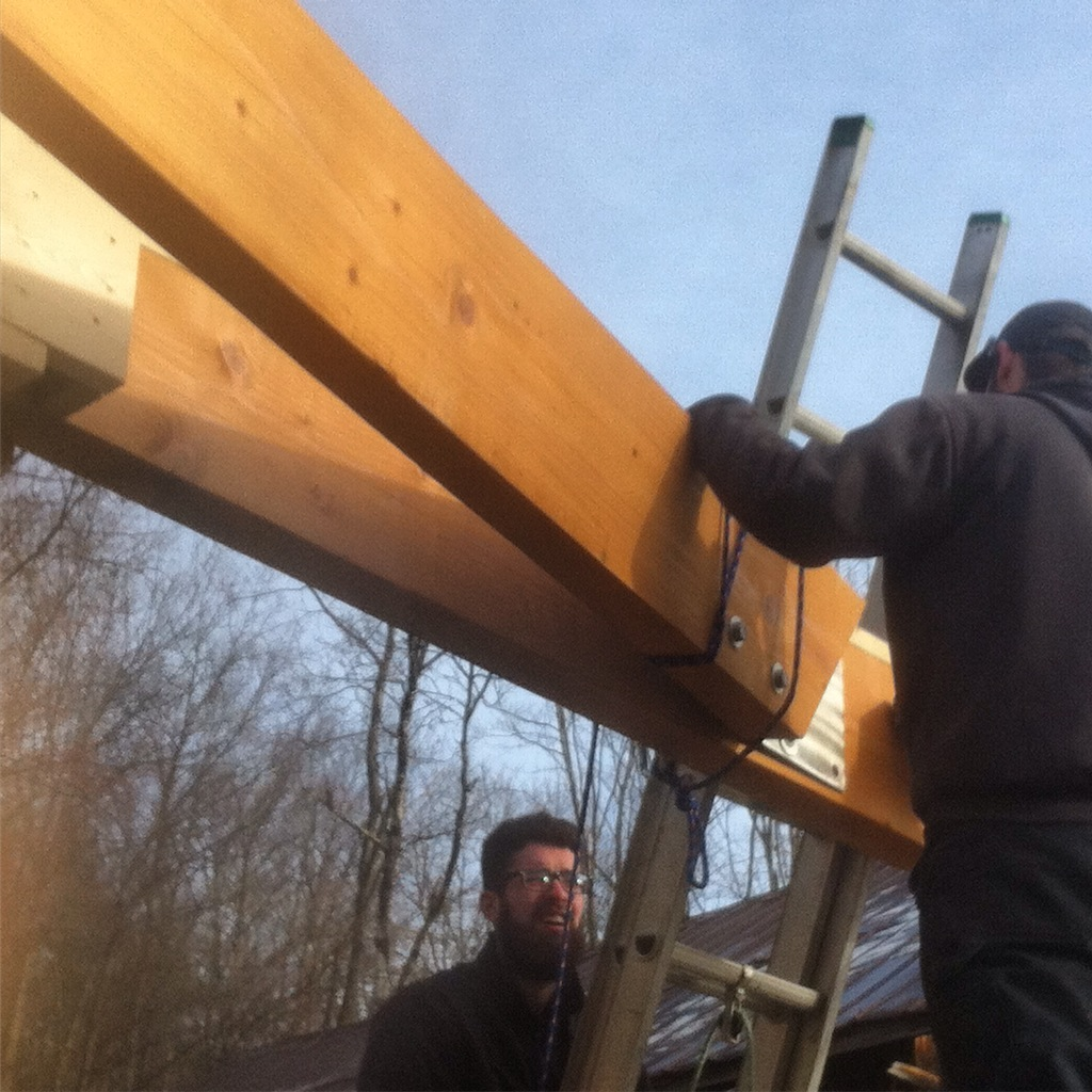 Setting the 24' Beam