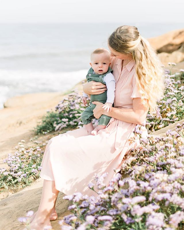 I love so many things about this photo: the gentleness of this mama, the purple wildflowers, the cute and many expressions of a 4 month old. Sharing some more favorite sneak peeks in my story!