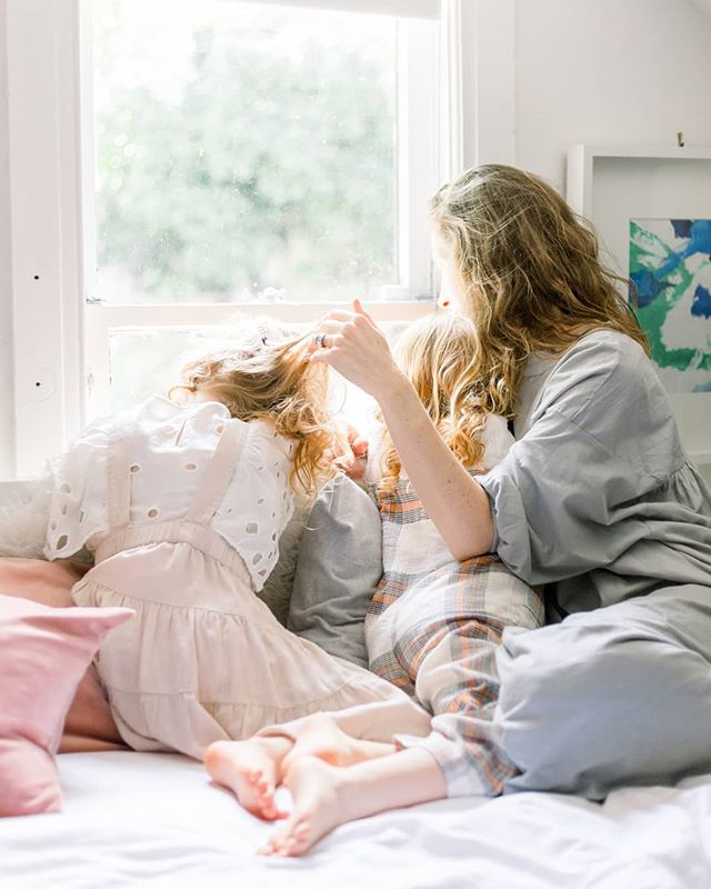 We're right in the middle of June gloom, which is a Southern California term for cloudy, cool, and overcast weather early in the summer. As much as I miss the sun, I love the cozy feeling it gives and makes me want to snuggle up by a window with my baby all day (just like this)!