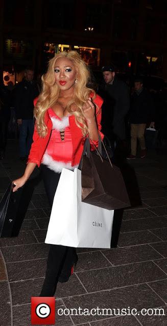 gina rio + christmas + style + shopping + gucci + celine + christian louboutin + saint laurent + ysl + red + sexy santa helper 2.jpg