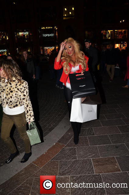 gina rio + christmas + style + shopping + gucci + celine + christian louboutin + saint laurent + ysl + red + sexy santa helper + hot + shoes.jpg