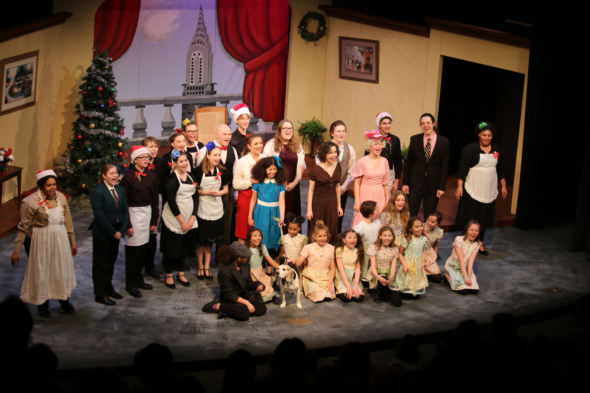 Annie cast takes a bow.JPG