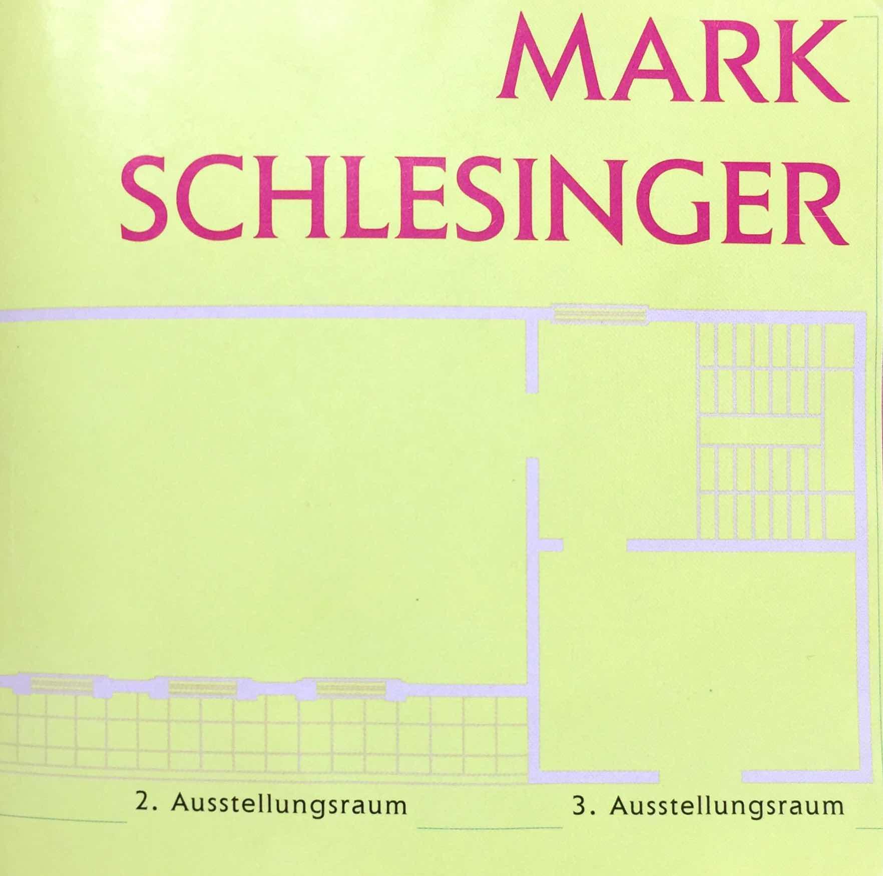 Download Catalog   Mark Schlesinger  Poem by Albert Mobilio. Held , Over for Mark Schlesinger.  1995. Rolf Hengesbach, Wuppertal, Germany.