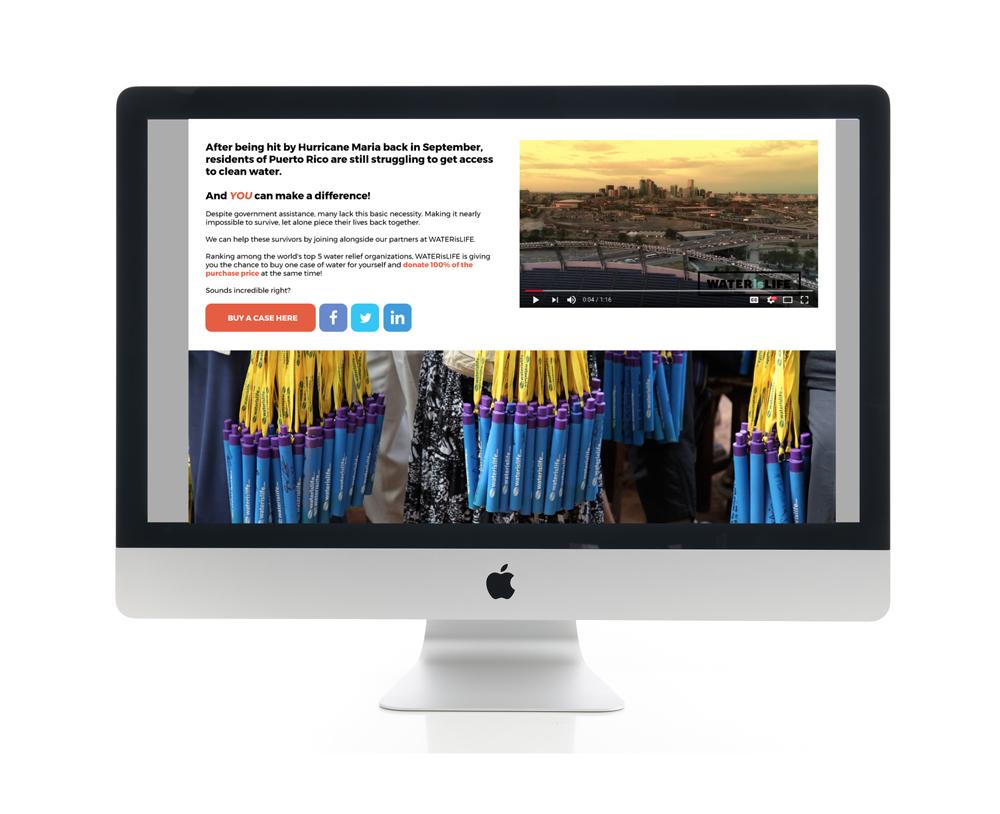 Better World International Water is Life Website