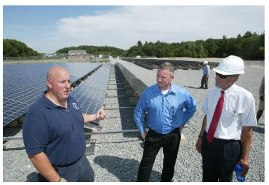 Rep. Golden at Chelmsford Solar Panels