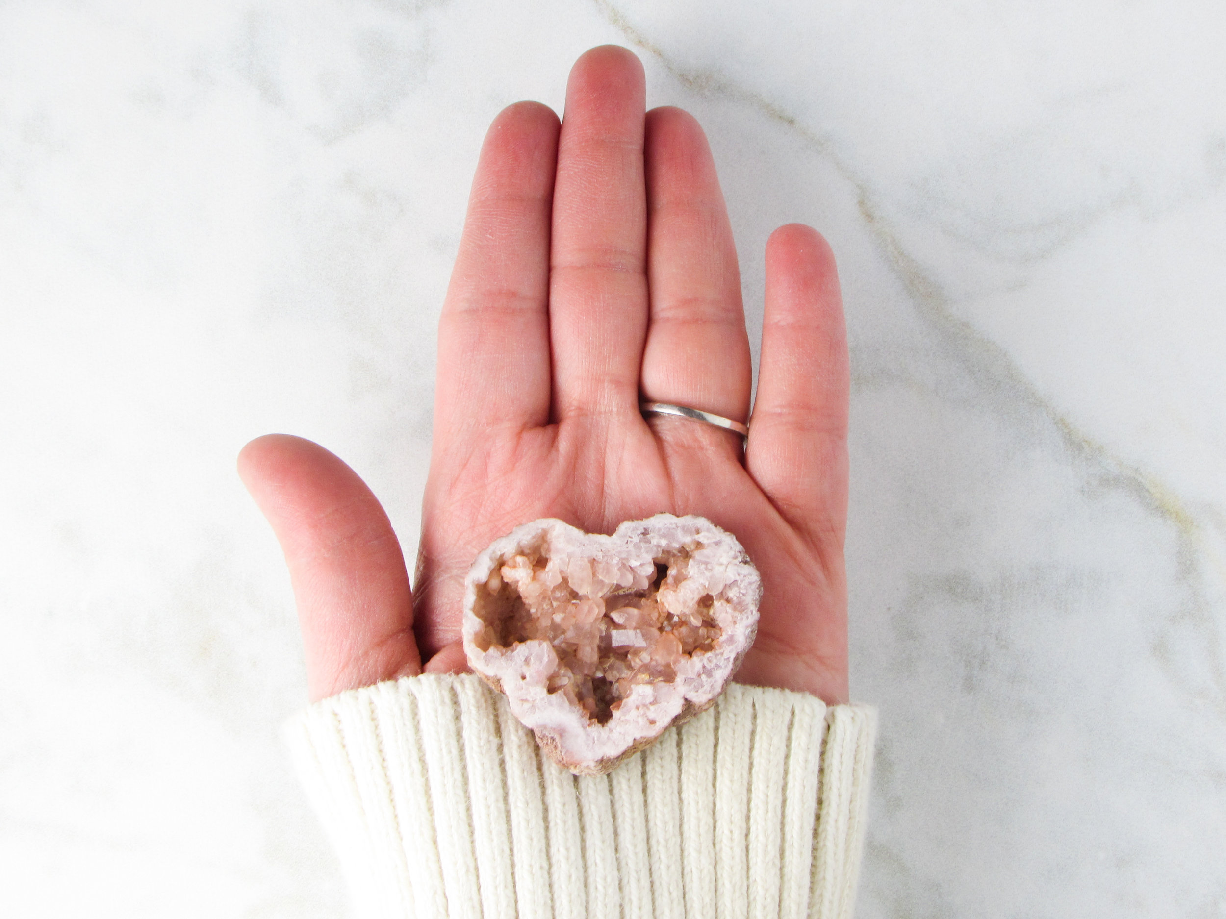 Pink amethyst to calm, soothe, and melt away anxieties