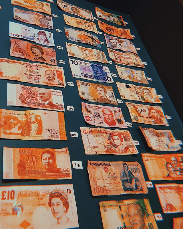 Ever wondered about our wall of money? Our customers and employees alike have brought us foreign currency from their travels & we display it with a conversion sticker for everyone to see! Check it out next time you visit! ☕️