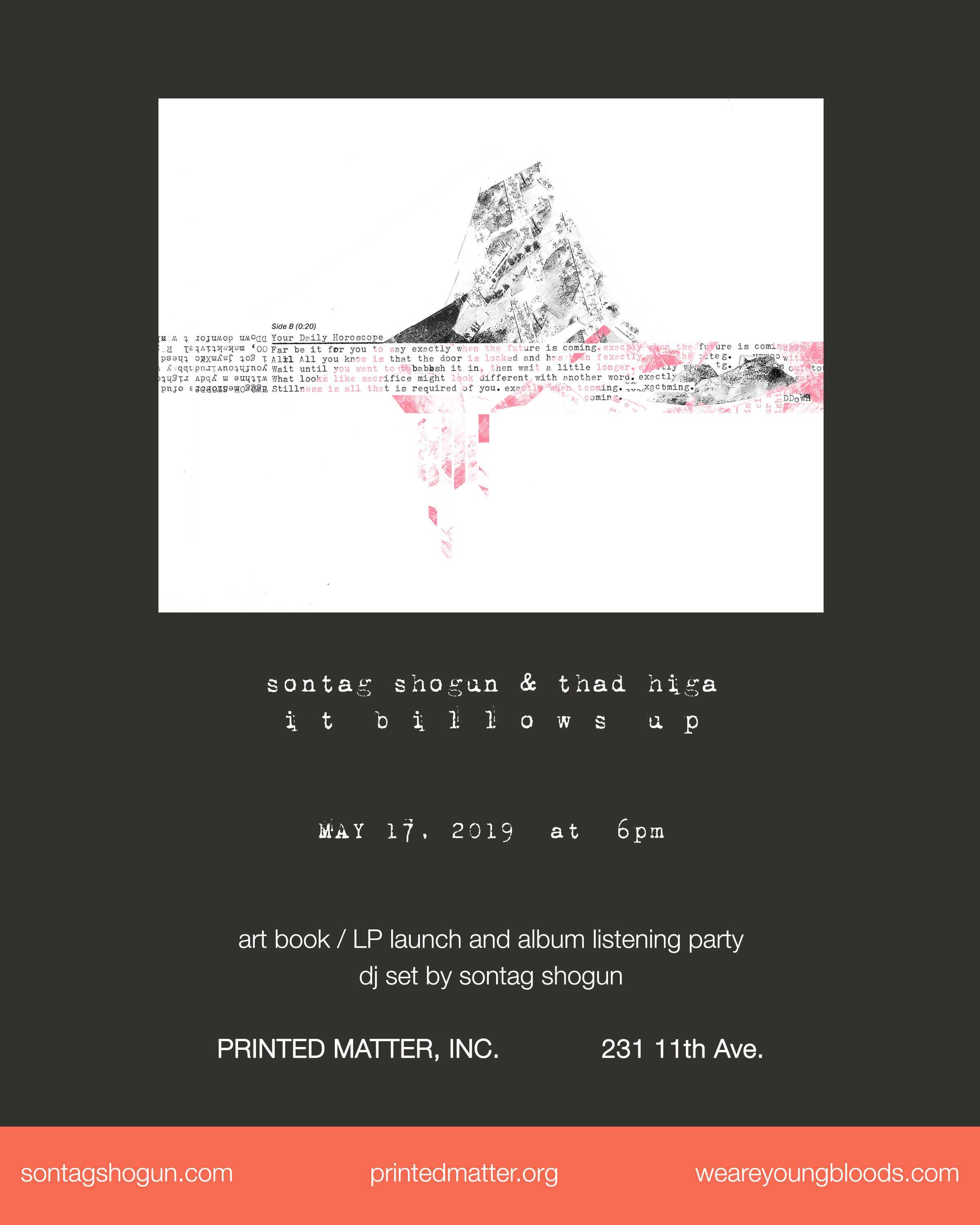 "We're thrilled to announce the release of our 3rd studio full-length record ""It BIllows Up"" (released by  Youngbloods ) on vinyl & it's eponymous artbook companion at NYC's  Printed Matter  on  Friday, May 17th."