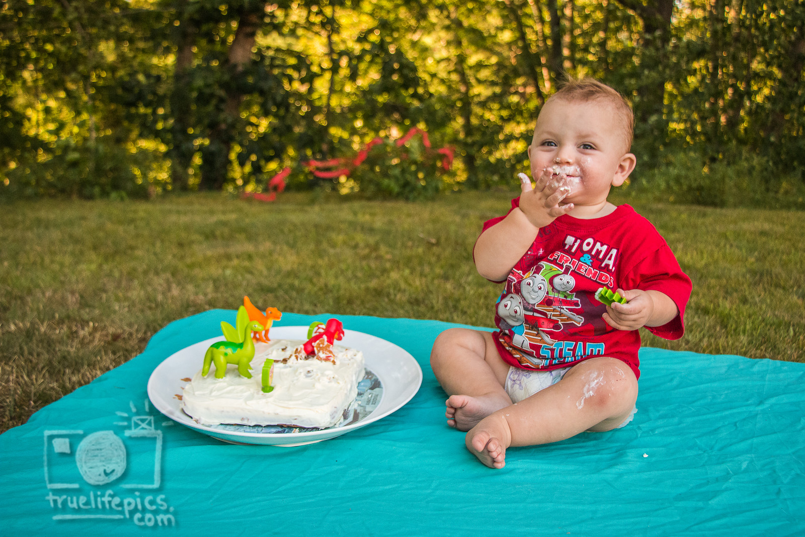 August 2015 - Baby J's Smash cake with the cake his mom made! ©True Life Photography of MA