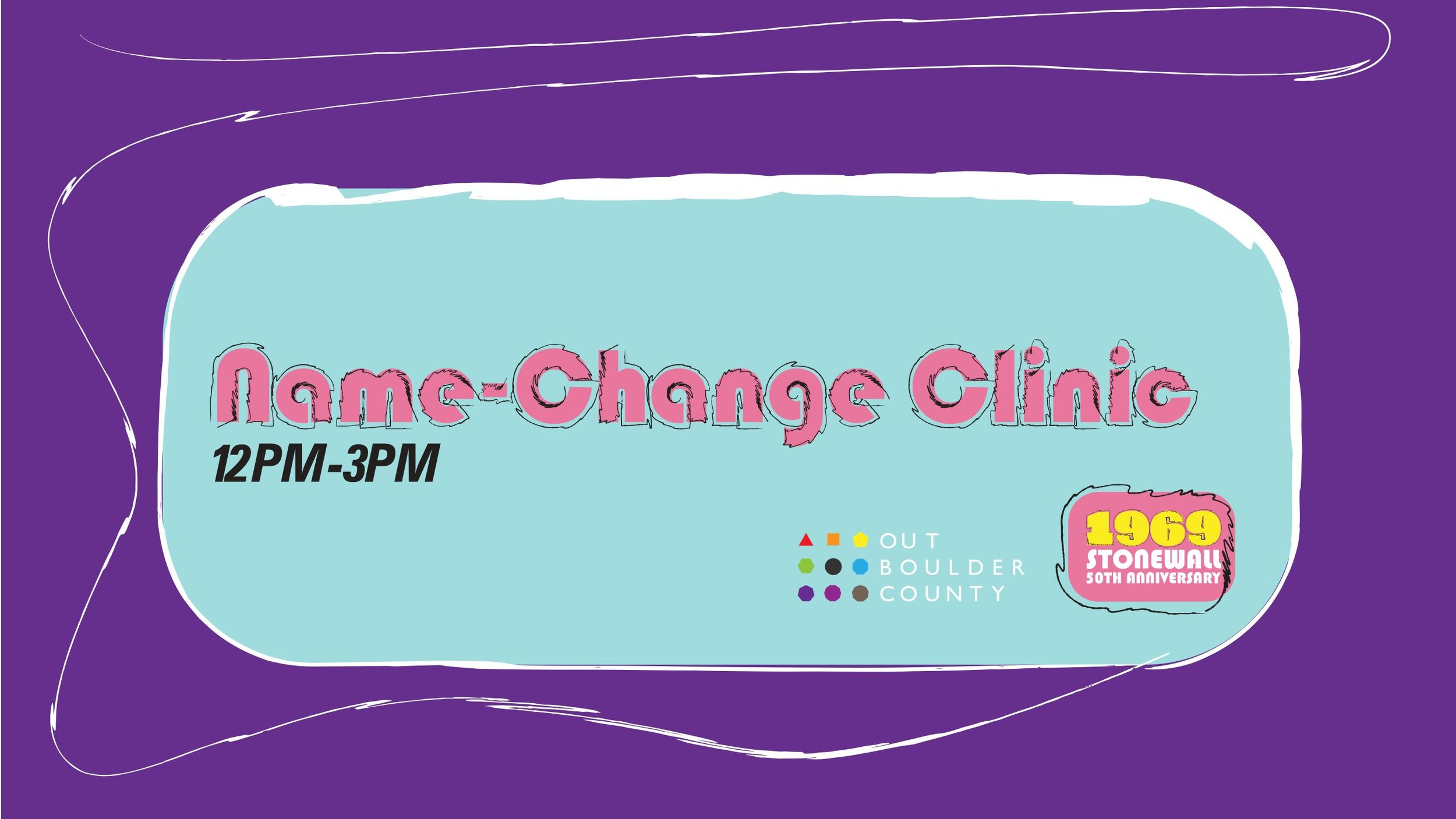Name & Gender Change Clinic  Saturday, September 7th, 12-3 pm First United Methodist Church of Boulder (Parlor Room)  Click here to see this event on our website.   Click here to see this event on Facebook.