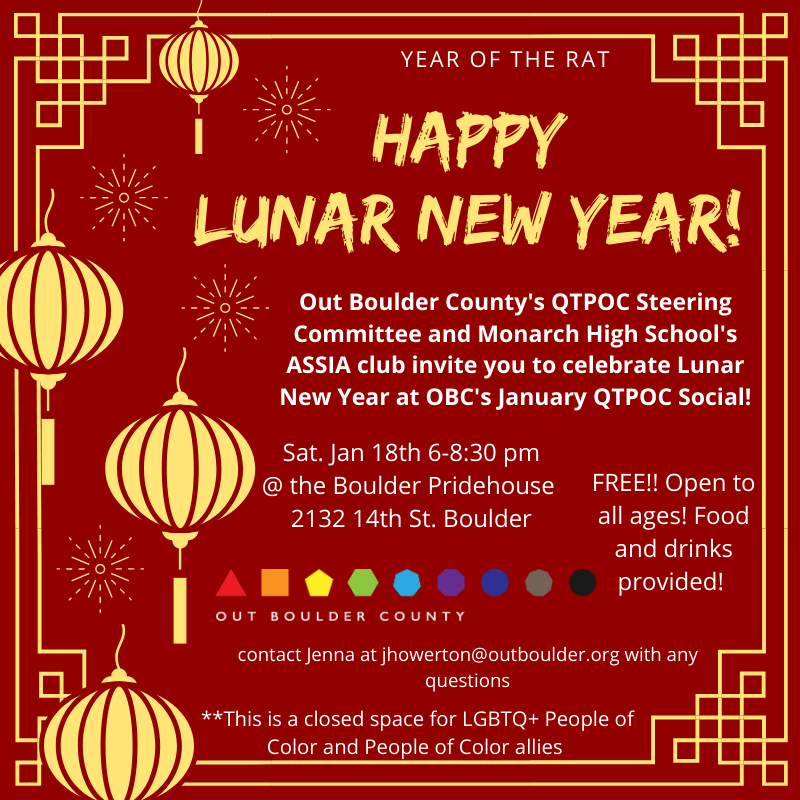 January Qtpoc Social Happy Lunar New Year Out Boulder County