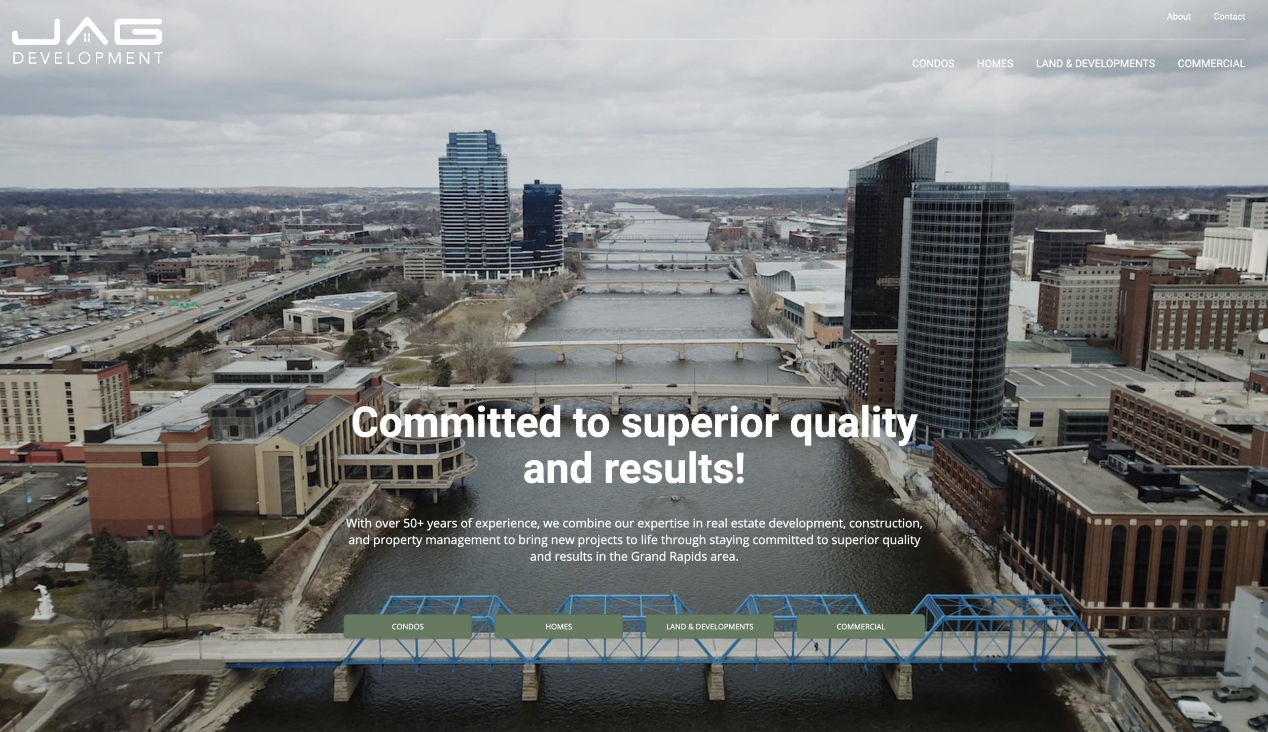 JAG Development Grand Rapids, Michigan Website